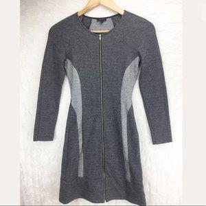 Theory Two Tone Zipper Dress
